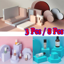 3/8Pcs 3D Geometry Photography Props Background Backdrop INS Style Photo Decors