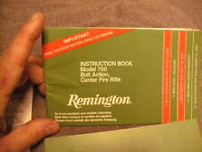 Remington 700 Bolt Action Owners Instruction Manual & other Papers