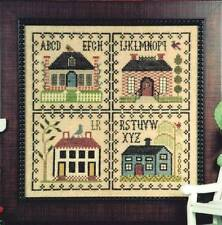 Hillside Samplings HOUSE SAMPLINGS OOP Leaflet/4 Cross Stitch/SS Charts~ sampler
