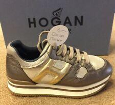 HOGAN JUNIOR Sneaker H222bambina bronzo/oro SCONTO 50%