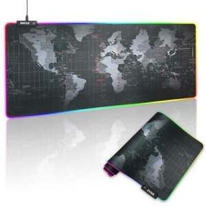 Tappetino Mouse Tastiera Gaming XXL 80x30 Mousepad Luce LED RGB Cambio Colore