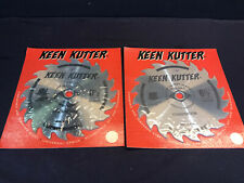 "Lot Of 2 Vtg Keen Kutter 6-1/2""Circular Saw Blades Combination"