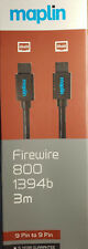More details for maplin firewire 800 1394b - 3 meter - 9-pin to 9-pin - new & unused