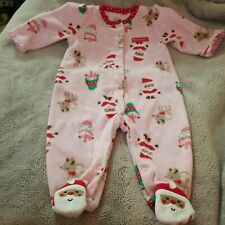 Carter's My First Christmas Infant Sleeper. 3-6 mos.