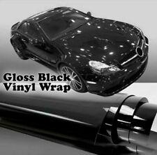 Pellicola Lucida Adesiva Nera Nero 30x152Cm Wrapping Auto Moto Ecc Vinyl Black