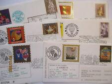 Christkindl Ballonpost Österreich 6 verschiedene Briefe mit Einlegekarte