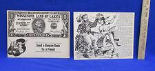 Paul Bunyan & Babe Blue Ox Giant Postcards Set 2 Vintage Buck Artist Pete Edd