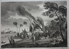Original antique print INDIA, GENTOO, FUNERAL, Metz, Birrell, Harrison 1782