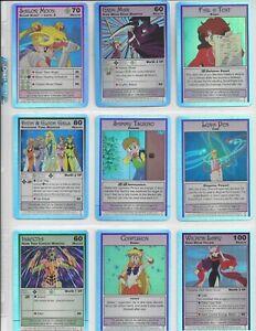 Sailor Moon Archival - 9 Card Holo Foil Chase Set & Promo Card - Dart 2000