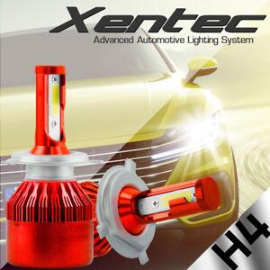 1X H4 COB LED 6500K HID White Headlight High low beam Bulb for Motorcycle 12/24V
