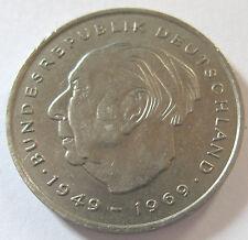 2 DM Deutsche Mark Deutschland Theodor Heuss 1973 J Umlaufgeld Kursmünze