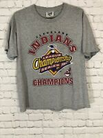 Lee Sports VTG Cleveland Indians 1997 American League Championship TShirt Sz L