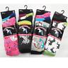 6 Pair Ladies Kids Unicorn Print Pony Horse Print Stretch Everyday Novelty Socks