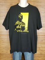 Air Jordan Jumpman 23 Black & Yellow Short Sleeve Graphic T-Shirt Mens Size 2XL