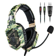 Gaming Headset K8 Wired 3.5mm for PS4 Nintendo New Xbox PC Camouflage Headphones
