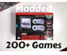 MODDED HACKED Super Nintendo SNES Classic Mini Over 225 + Games! See Game List