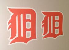 "Detroit Tigers FATHEAD Lot/2 Official Orange Olde English D Logos (9""x7"" 12""x9"")"