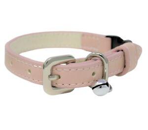 Luxury Pastel Pink Vegan Leather | Breakaway | Adjustable Cat | Kitten Collar