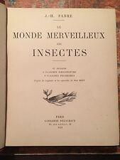 J-H-Fabre: Le monde merveilleux des insectes, Parigi 1921, ENTOMOLOGIA INSETTI