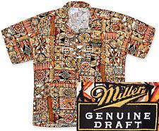NEW Miller Genuine Draft MGD Beer Hawaiian Shirt, 2X