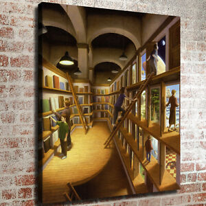 "26x20"" Rob Gonsalves ""Written Worlds"" HD print on canvas large wall picture"