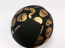 Balloon Ball Cover ~ HALLOWEEN ~ GOLD SKULL'S ~ SKELETON ~ Handmade in Australia