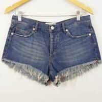 FREE PEOPLE | Womens Cutoff Denim Shorts NEW [ Size AU 10 / US 28 ]
