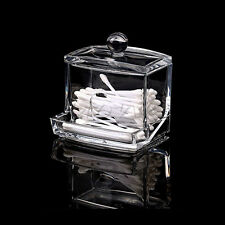 Acrylic Q-tip Holder Box Cotton Swabs Stick Storage Cosmetic Makeup Durable US