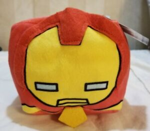 """NWT Rare 2017 Marvel Ironman Cubd Collectibles Officially Licensed Plush Cube 4"""""""
