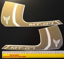 2x Gold MT-07 250mm X 106mm Stickers Decal