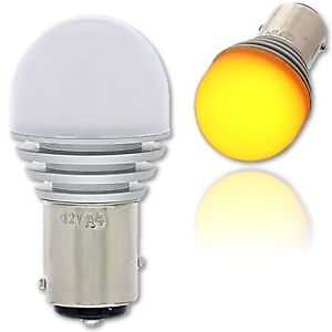 #1157 Amber LED 12V Park Tail Light Brake Stop Turn Signal Lamp Bulb EACH 4x6.3