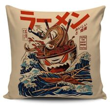 The Great Ramen Off Kanagawa Pillow Cover Cushion Sofa Case