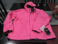 GIRLS YOUTHS Under Armour COLDGEAR HOODED STORM 3 WATERPROOF jacket YLG PINK NWT