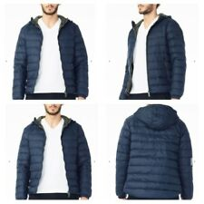 New NWT Armani Exchange AX Mens Hooded DOWN Jacket Coat - Navy - Small