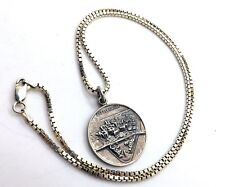 VINTAGE DANECRAFT STERLING PITTSBURGH PENDANT ON 18 INCH STERLING SILVER CHAIN