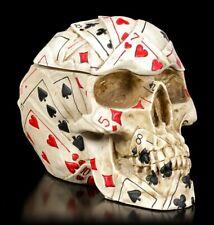 Totenkopf Dose - Poker Skull - Schädel Figur Spielkarten Schatulle Totenschädel