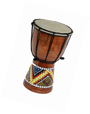 Djembe Drum 20cm Height Wooden Professional Bongo Fair Trade