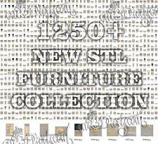 1250+ New STL Furniture Collection Models CNC Router Carving Artcam aspire Cut3D