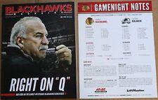 2013 Chicago Blackhawks Avalanche Program w/insert Quenneville Cover Toews