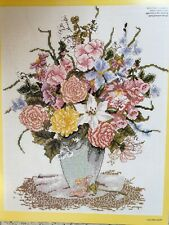 Floral Vase Cross Stitch Chart only, from DMC (large design)