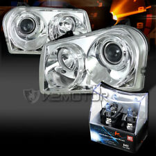 05-10 Chrysler 300 Touring Limited Chrome Projector Headlights+H1 Halogen Bulbs