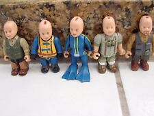 Lot if 5 Mighty world Action Figures Bald Headed ,one girl Diver rare 2 3/4""