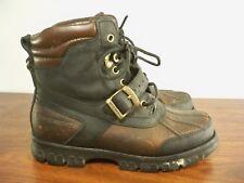 Vintage Polo Ralph Lauren Harness Combat Motorcycle Leather Women's Boots 6.5