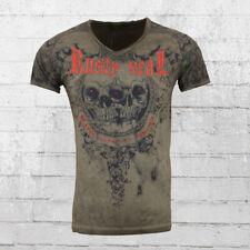 Rusty Neal T-Shirt Graphic Propaganda vintage grau Männer Tshirt Men's Tee