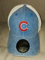 NEW ERA 39 THIRTY MLB HOOGE CHICAGO CUBS MENS HAT BLUE WHITE MESH LARGE X-LARGE