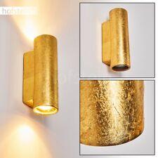 Applique Up/Down Lampe murale Lampe de corridor Céramique dorée Lampe de séjour