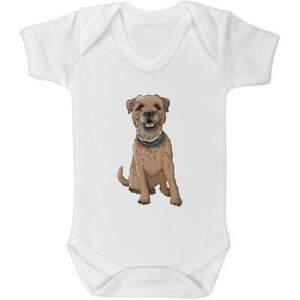 'Border Terrier' Baby Grows / Bodysuits (GR028597)