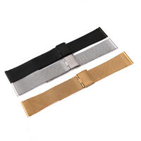 FT- Stainless Steel Bracelet Strap Wrist Watch Mesh Durable Replacement Band Rap