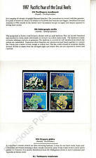 Papua New Guinea MNH 1997 STAMP PRESENTATION PACK CORAL REEF YEAR SG 821-824