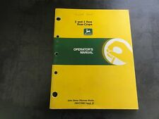 John Deere 2 and 3 Row Row-Crops Operator's Manual  OM-E75682 Issue J5